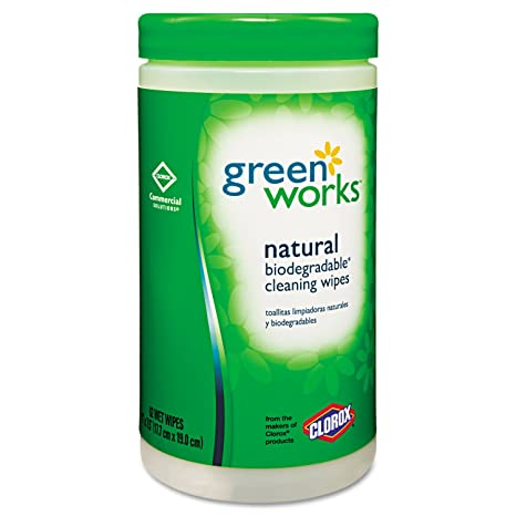 Green Works 30380CT Compostable Cleaning Wipes 7 x 7 1/2 Original Scent 62/