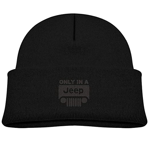 93d2f50bf7e Amazon.com  ONLY in A Jeep Kid s Hat Winter Knit Beanie Cap Children Knitted  Hat  Clothing