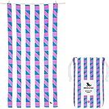Fast Drying Beach Towel Kit - Solstice, Large (160x80cm, 63x31) - Sand Free, Lightweight