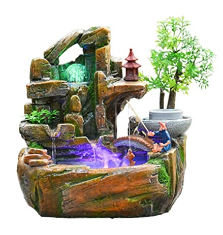 Amazon.com: GL&G Chinese Tabletop Scenes Indoor Fountain Tabletop ...