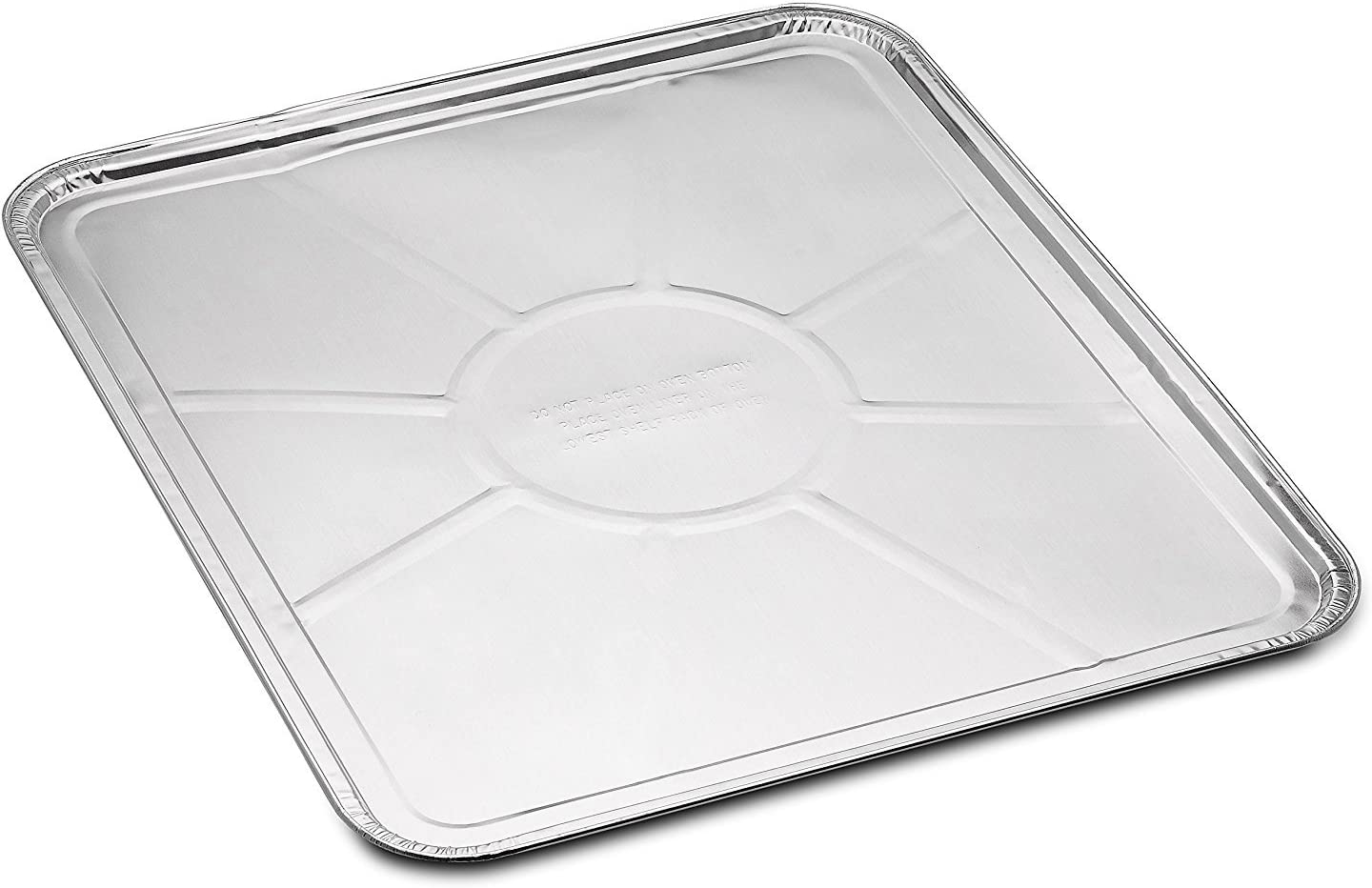 "10-Pack Disposable Foil Oven Liners by DCS Deals – Keep Your Oven Clean and Healthy – Perfect Silver Foil Drip Pan Tray for Cooking, Baking, Roasting, and Grilling- 18.5 x15.5"" inch"