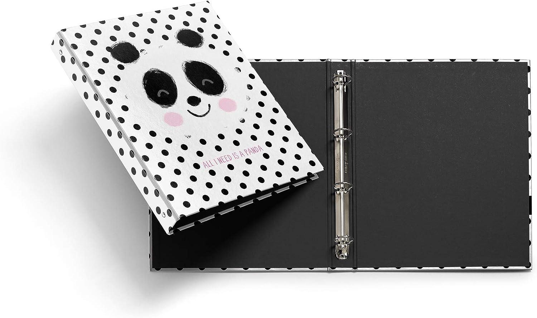 Miquelrius - Pack con 2 carpetas cartón 4 anillas de 25 mm A4 Jordi Labanda panda topos: Amazon.es: Oficina y papelería