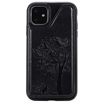 Cover for iPhone Xs Leather Extra-Protective Business Wallet case Card Holders Kickstand with Free Waterproof-Bag Black1 iPhone Xs Flip Case