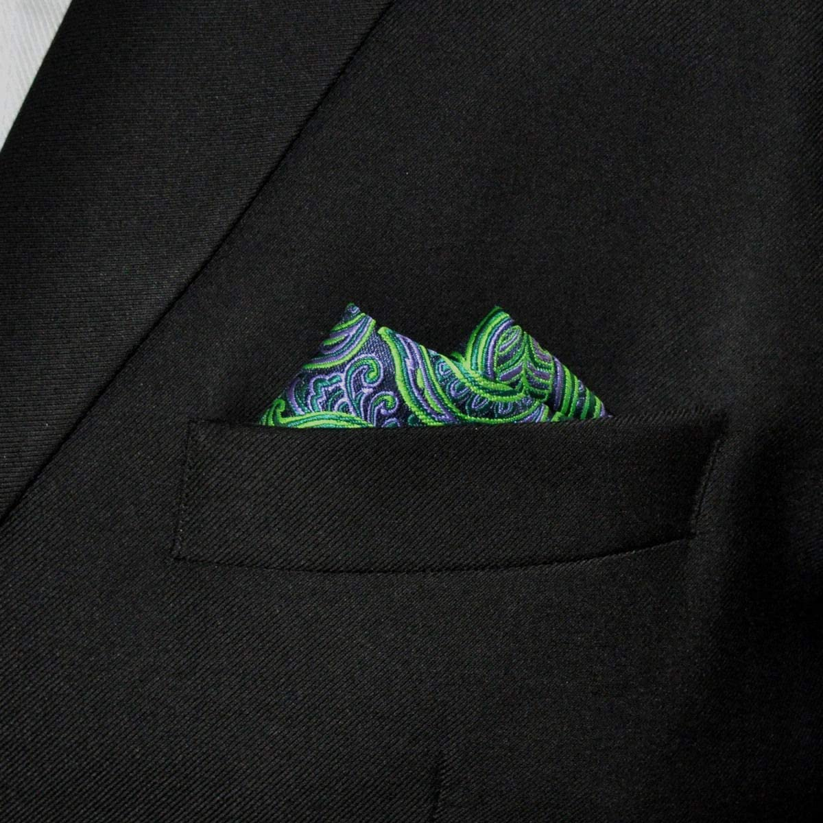 Shlax&Wing Hombre La Moda Seda Pañuelo De Bolsillo Para Verde ...
