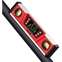 RISEPRO 10-Inch Digital Torpedo Level and Protractor IP54 Protected Electronic Bubble Inclinometer, Angle Finder, Gauge…