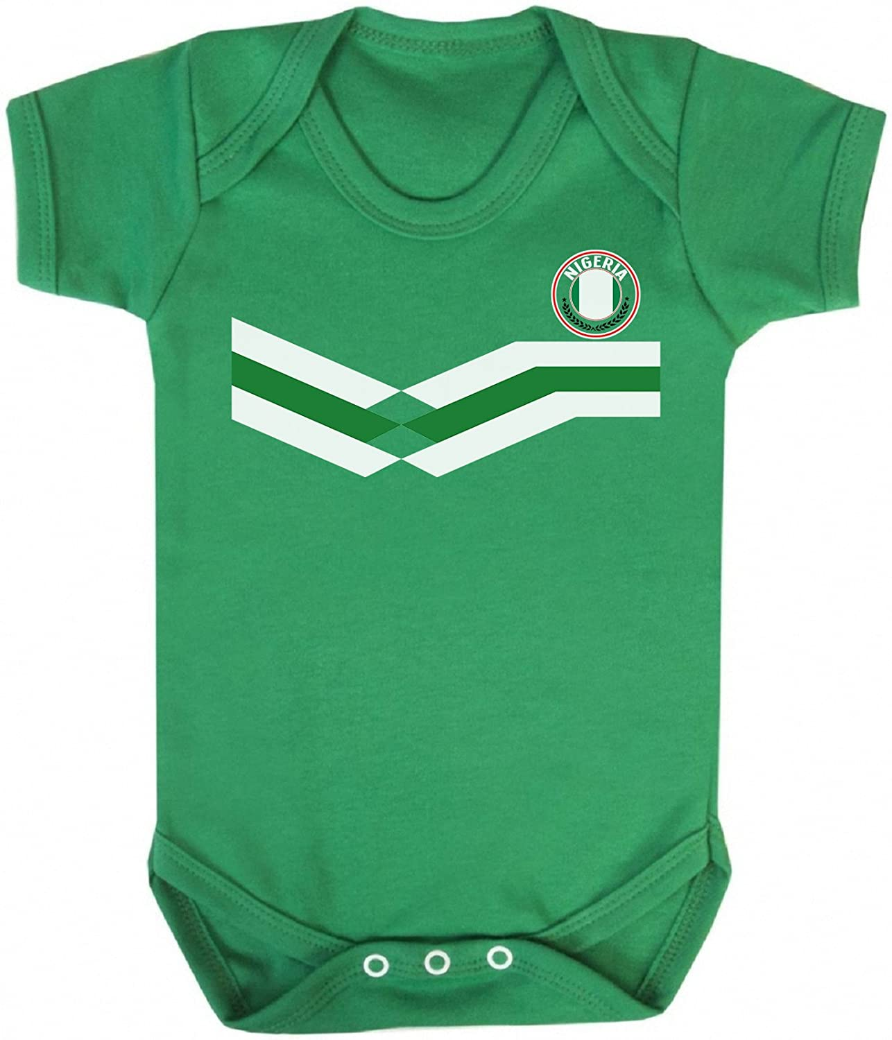 Nigeria New Retro Strip Bodysuit fü r Kinder Fussball-Weltmeisterschaft 2018