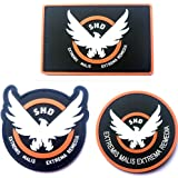 3pcs AIRSOFT -GAME -COSPLAY THE DIVISION SHD RUBBER 3D PVC BADGE MORCLA VELCRO PATCH (4)