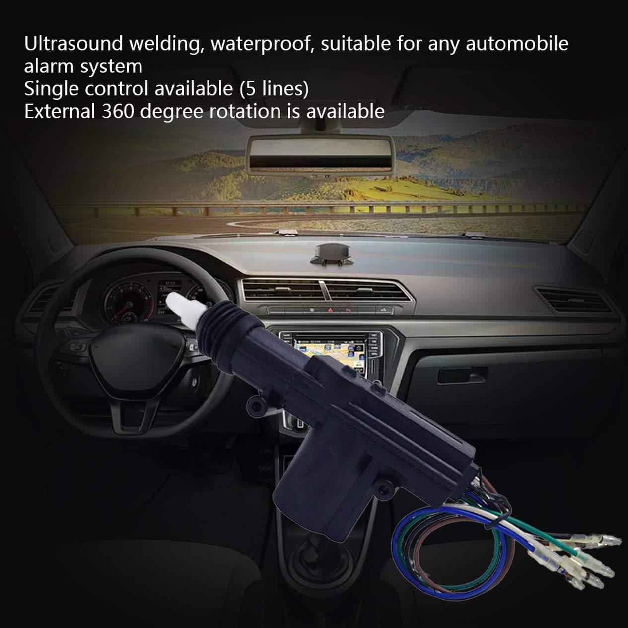 EdBerk74 Kit chiusura centralizzata alimentazione porta 12V con attuatore a 2 fili per accessori di sicurezza automatici per veicoli