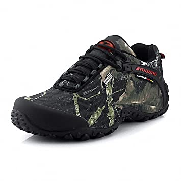 Herren Trekking Wanderstiefel Wasserdicht Rutschfeste Wanderschuhe Outdoor Stiefel Sneaker Boots Schwarz 43 IVizG7YD