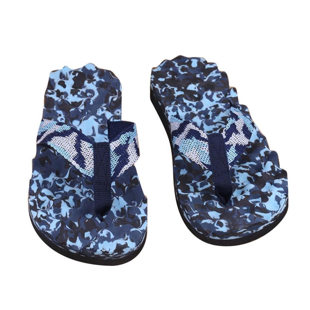 00fcbb09a2a8 Amazon.com   Hunputa Men Summer Camouflage Flip Flops Shoes Sandals Slipper  Flip-flops (Blue