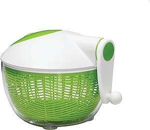 Starfrit 093028-002-0000 Salad Spinner, Green/White