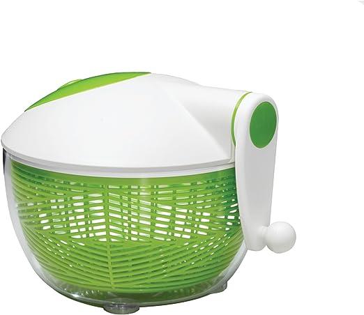Green//White Starfrit 093028-002-0000 Salad Spinner