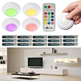 Wireless LED color changing accent light with remote (5 pack -batteries included)