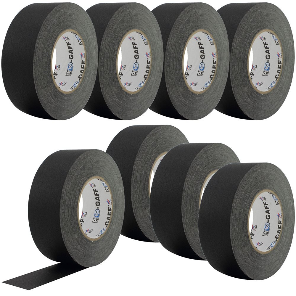 PRO Black Gaffers Stage Tape 2 Inch 55 yd 8-Pack by Permacel