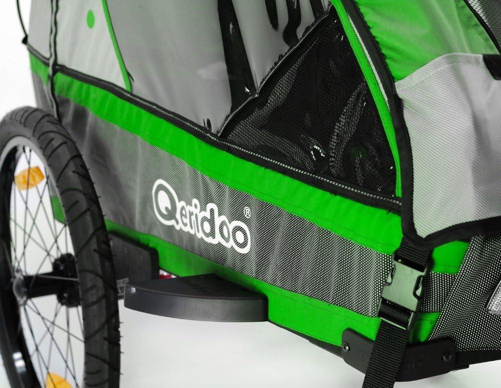 Qeridoo bicicleta infantil colgante Jumbo1 verde aluminio Jogger ...
