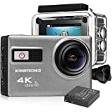 ICONNTECHS IT Action Camera 4k Waterproof Sports Action Cam for Scuba Diving wifi 170 Degree Wide Viewing Angle 60fps Helmet Cameras Underwater Camcorder