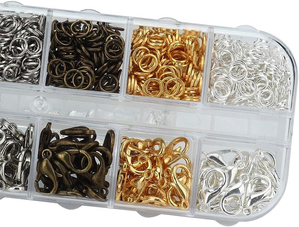 12 Piezas y Herramientas de procesamiento de joyer/ía de Metal de Rejilla Salmue Pinzas de Langosta y c/írculo Cerrado Pinzas y alicates
