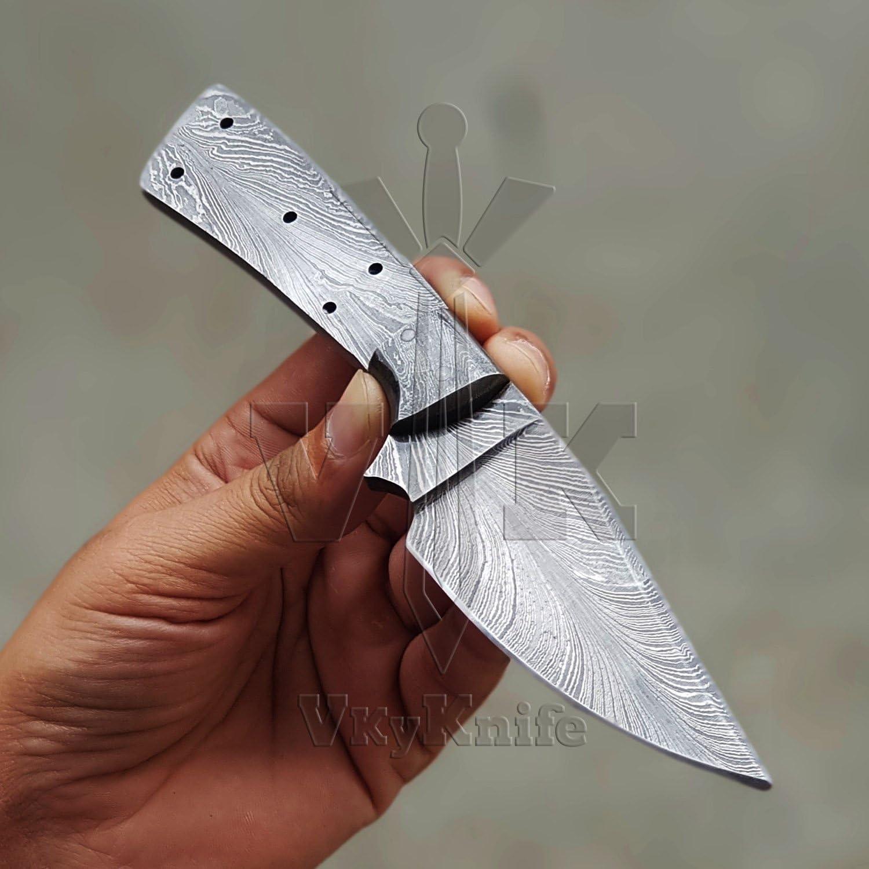Damascus Blank Blade Damas Lame Torsion Motif 1102