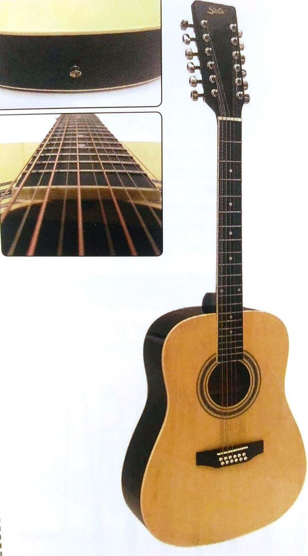 Guitarra Stratos Acoustic 12 cuerdas: Amazon.es: Instrumentos ...