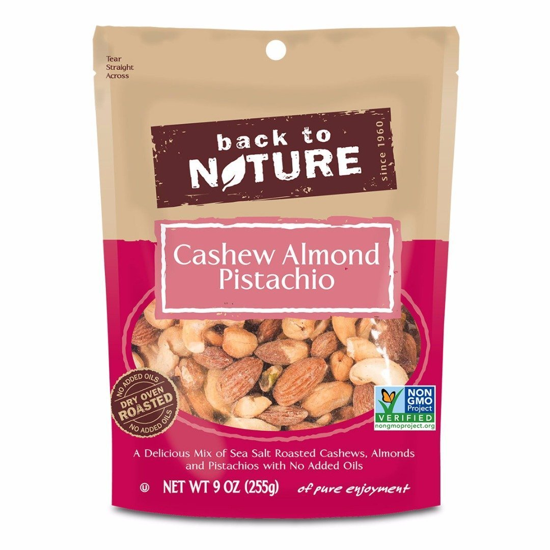 Amazon.com : Back To Nature Cashew Almond Pistachio Mix : Grocery ...