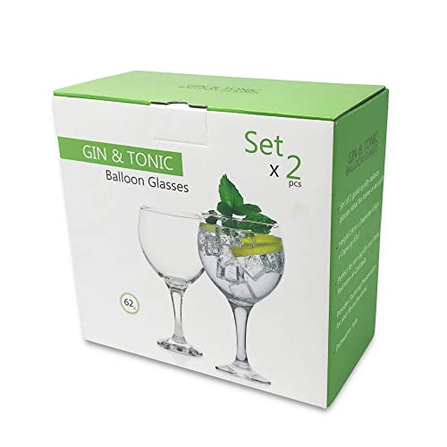 Copa Gin and Tonic Cocktail Balloon Glasses set of 2 , 62cl