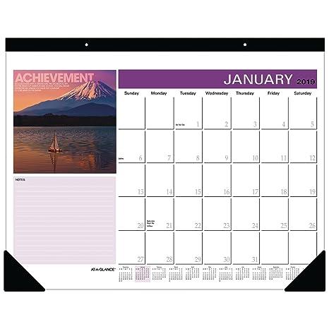 Amazon Com At A Glance 2019 Desk Calendar Desk Pad Successories