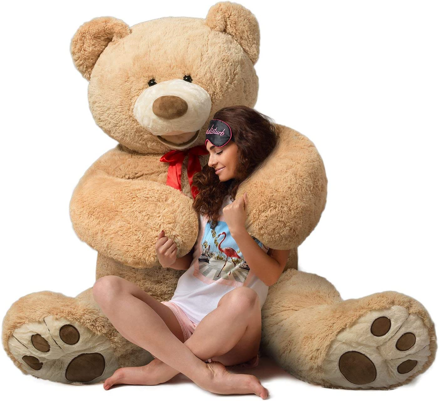 HollyHOME Teddy Bear Stuffed Animal Giant Bears Plush Light Brown 60 Inches