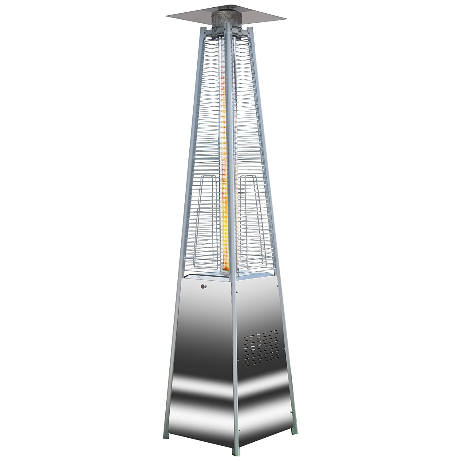 Attractive Quartz Glass Flame Tube Patio Heater Stainless Steel 227cm Tall 13 Kw  Stylish: Amazon.co.uk: Garden U0026 Outdoors