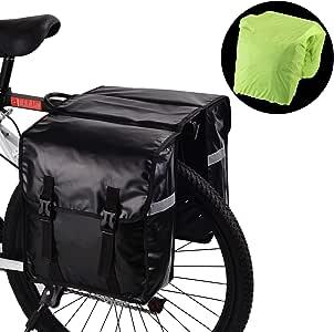 WILDKEN Alforjas para Portaequipajes de Bicicleta, Bolsas Traseras para Bicicletas MTB Sillines Pannier Bag Impermeable Bicicleta Carretera Asiento Trasero (Negro): Amazon.es: Deportes y aire libre