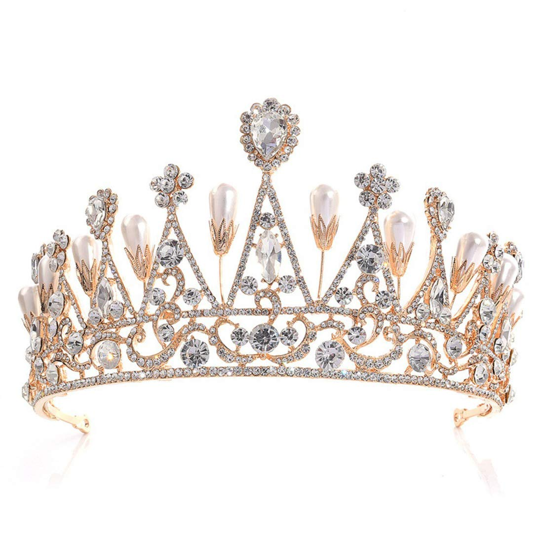 Amazon com: YUKILO Exquisite Wedding Hair Crown Crystal
