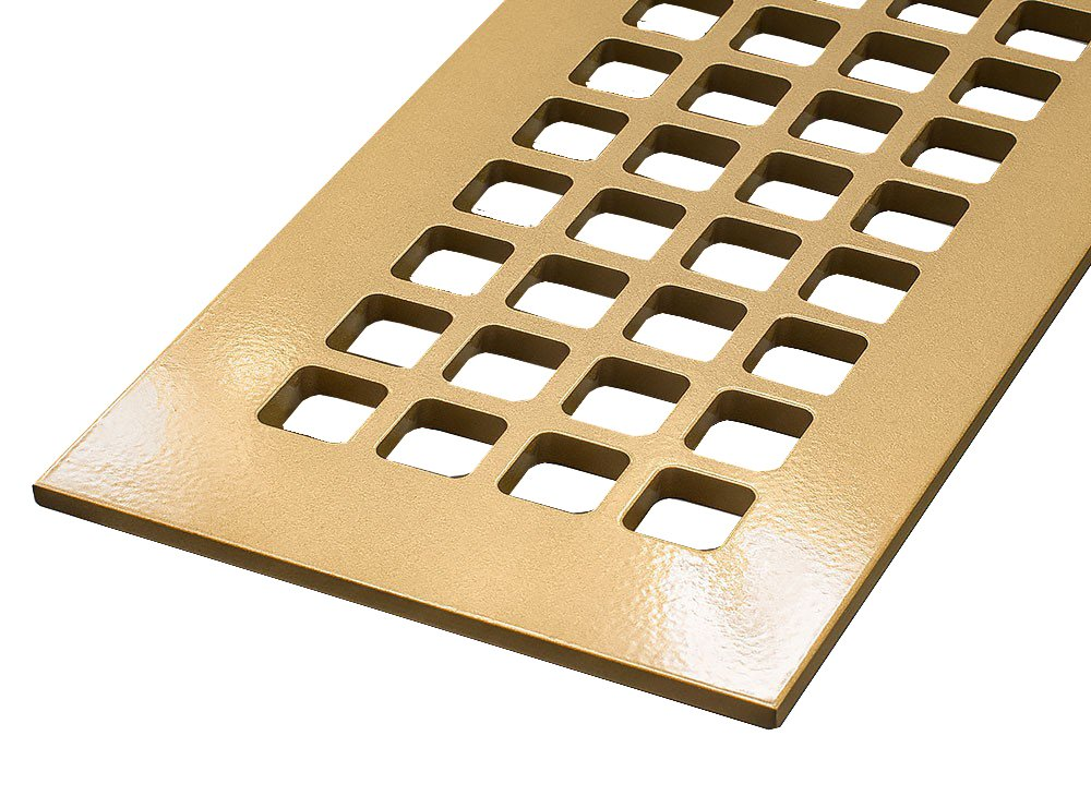 12'' x 24'' Sun Gold Steel Square Design Vent Cover With Screwholes (14.5'' x 26.5'' Overall)