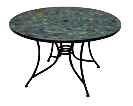 Amazoncom Home Styles Stone Harbor Round Dining Table - 36 round outdoor dining table