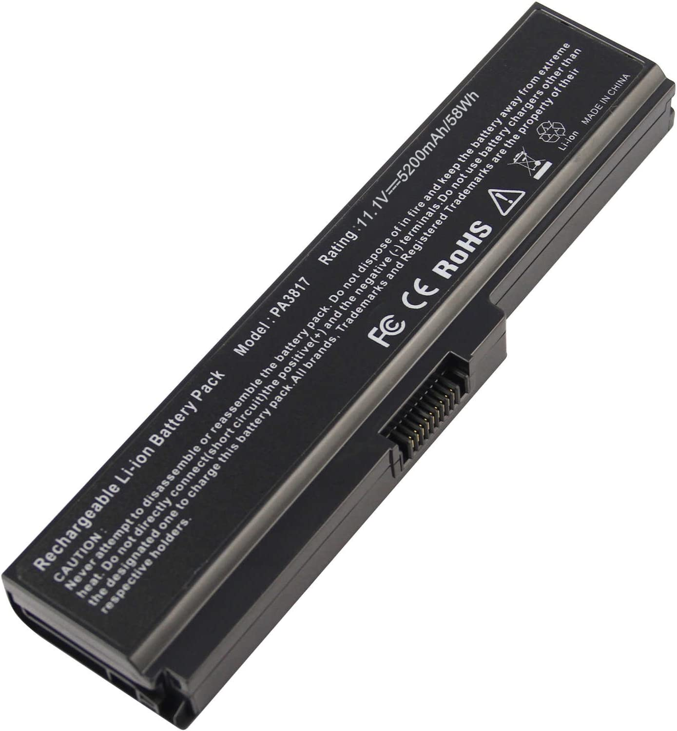 Battery for Toshiba L675 L750 L700 L755 P755 P750 C655 A655 A665 C655D L755D L755-s5167 L755-s5170 L755-s5175 L755-s5213 Satellite, Replace with Toshiba Battery PA3817U-1BRS PA3818U-1BRS