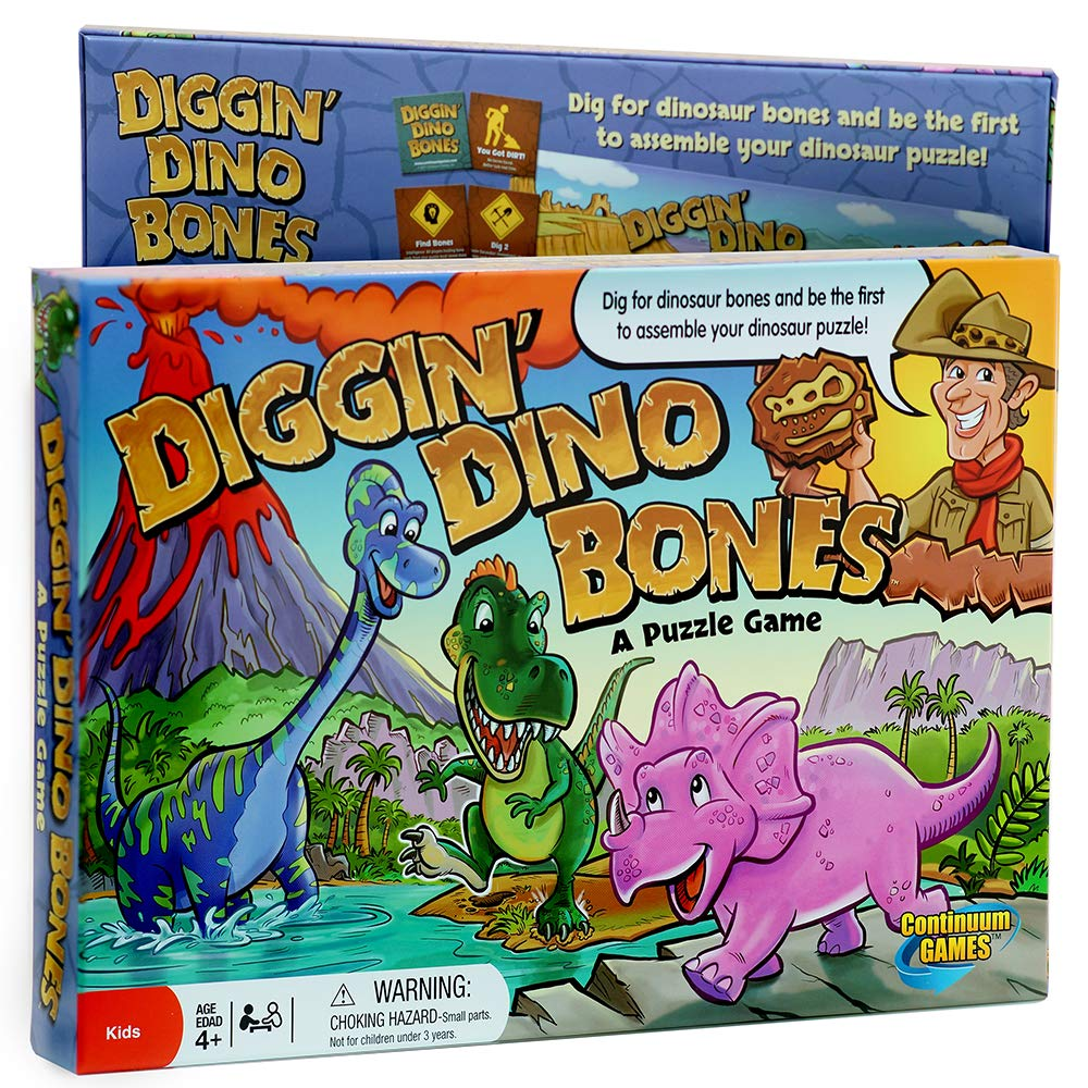 Continuum Games CG1612 Digging' Dino Bones Board Game Kids Aged 4 And Up