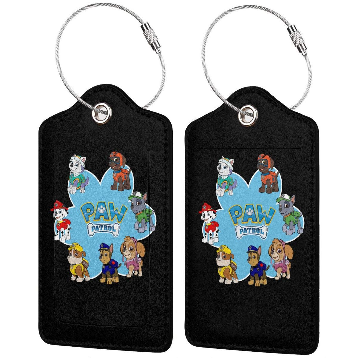 Paw Patrol Leather Luggage Tag Travel ID Label For Baggage Suitcase