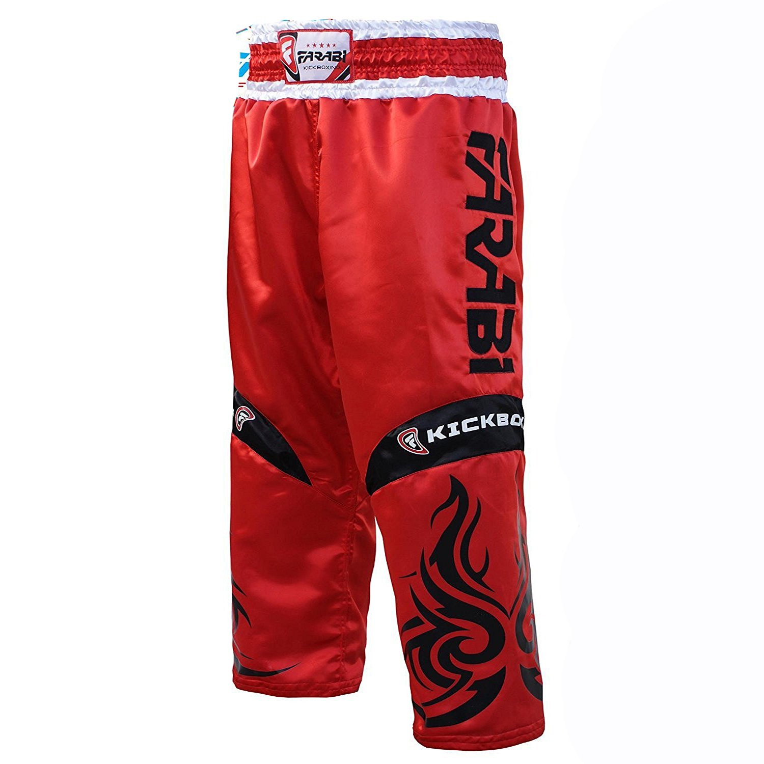 Farabi KickBoxing Trousers Pants Mix martial arts Full contact Blue Red Black Adult & kids sizes Farabi Sports