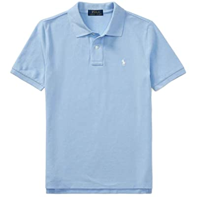 Ralph Lauren Polo Boys' Classic Cotton Mesh Polo Shirt (AustinBlue, XL)