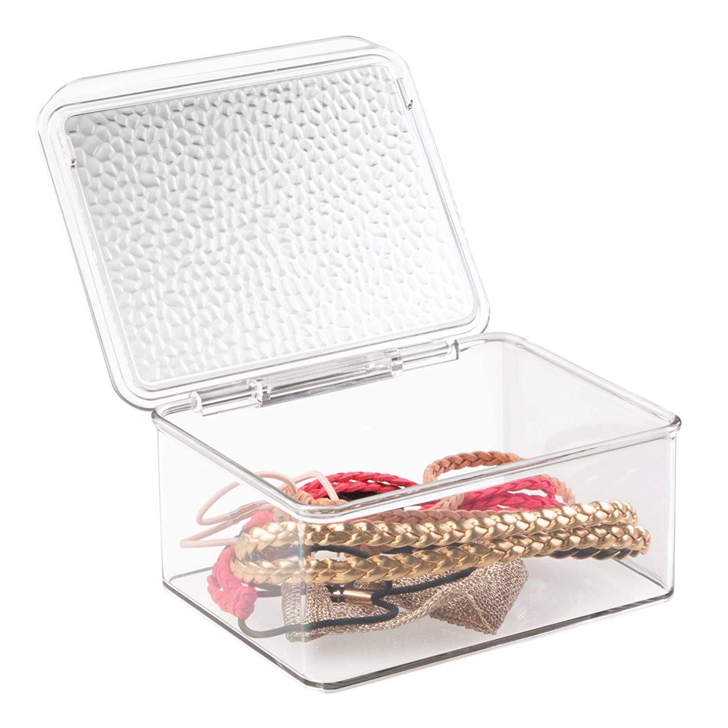 InterDesign Rain Stackable Cosmetic Organizer Box to Hold Makeup, Beauty Products - Small, Clear Inc 54950