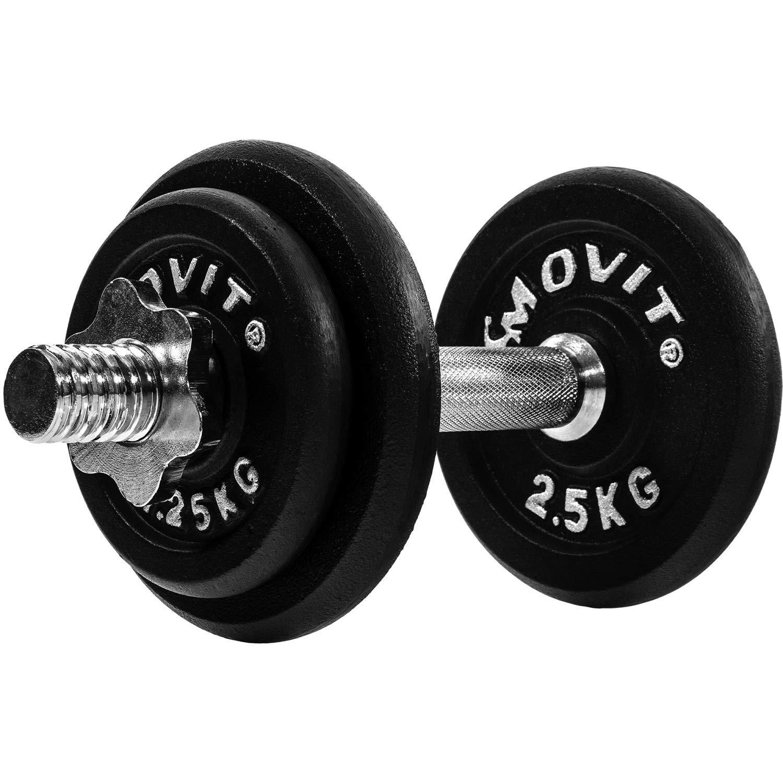 Movit mancuernas de hierro fundido, modelos diferentes, 1 x 10 hasta 1 x 30 kg, barras de gerendelt con cierres, a - 10,0 kg: Amazon.es: Deportes y aire ...