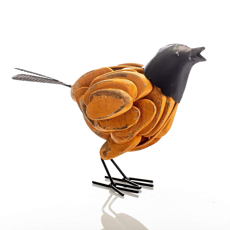 Drew Derose Rustic Yellow Wood Chip Standing Bird 12 x 9 Wood Collectible Figurine