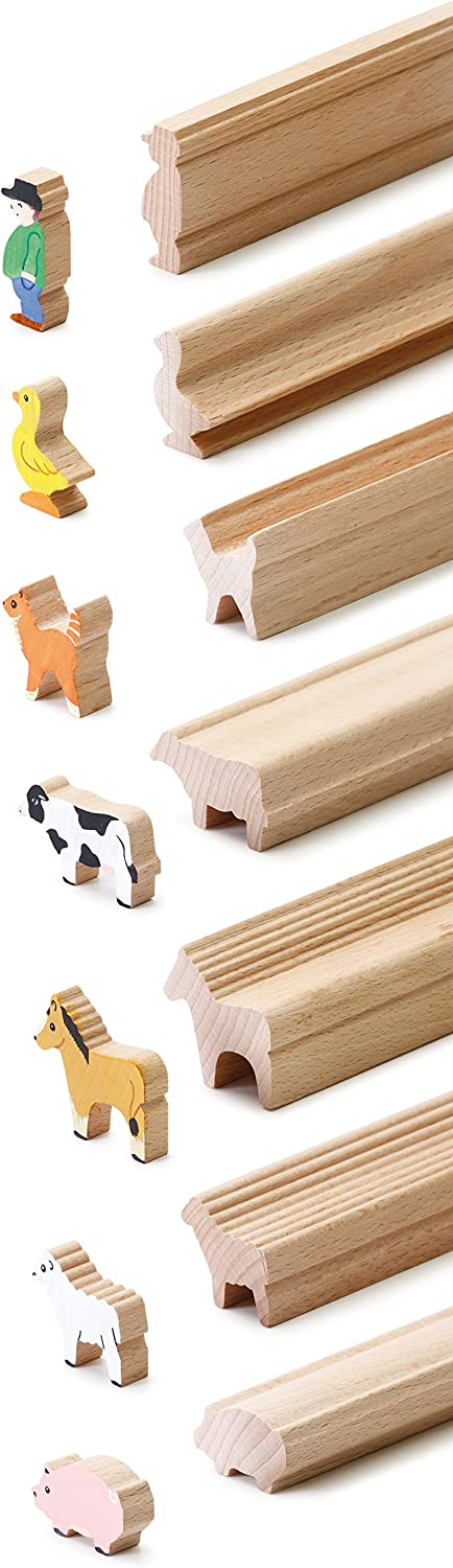 Erzi Moulding Wooden Toy Farm Craft-Moldura de Madera (45 x 11 x 60 cm), Multicolor, (41262)