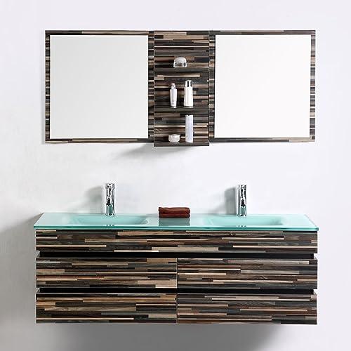 Decoraport 55 in. Wall Mount Bathroom Vanity Set