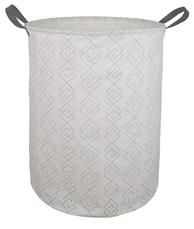 MZIMIK Square Storage Basket Collapsible Organizer Bin Waterproof Toy Box for Organizing Home/Dorm/Kitchen/Pet/Office/Closet/Shelf/Gift Baskets (Grey Geometry)
