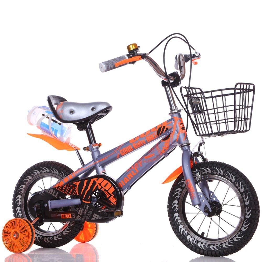 美しい 家子供用自転車、男の子用ベビーカー、女の子用自転車、子供用サイクリング (色 : グレー, サイズ さいず : 124cm) B07CXKHXSL 124cm|グレー グレー 124cm