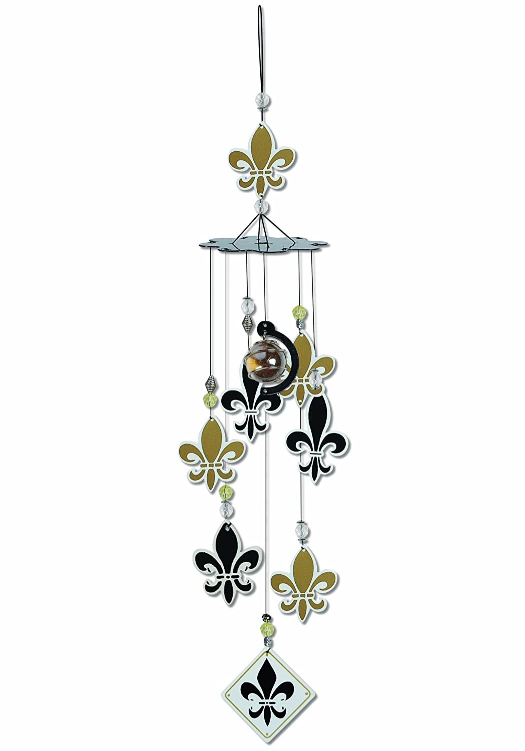 amazon com sunset vista fleur de lis wind chime 24 inch long