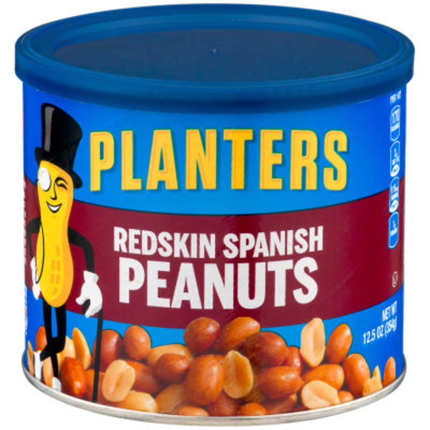 Planters Redskin Spanish Peanuts Sea Salt, 12.5 OZ (Pack of 6) by Kraft by Planters (Image #2)