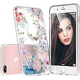 iPhone 8 Plus Case, iPhone 7 Plus Case, Custype Floral Soft TPU Shockproof Anti-Scratch Protective Flexible Case for iPhone 7 Plus / iPhone 8 Plus (Floral 01)