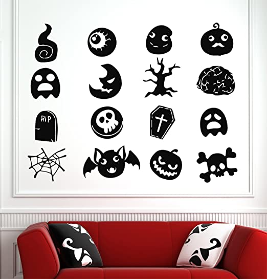 SCARY HORROR FACE Vinyl Decal Sticker truck car Wall Home Decor Halloween