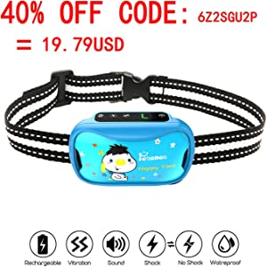 petamer Shock Collar Rechargeable Waterproof Anti bark...