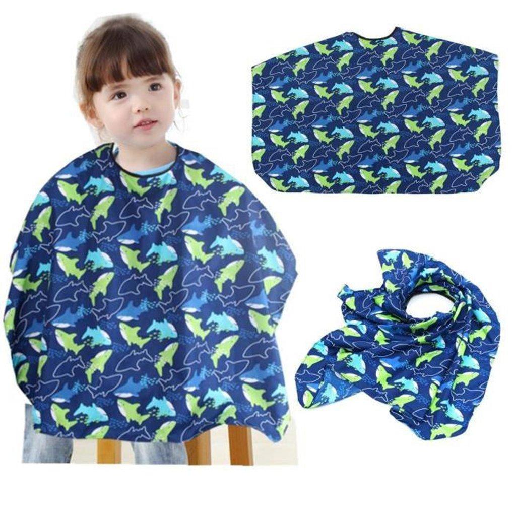 Deinbe Dolphin Impermeabile Bambini Barbiere Capo di Taglio dei Capelli Abito Grembiule saloni Covers Dress